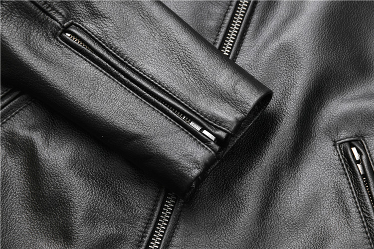 HTB1O h4aoT1gK0jSZFhq6yAtVXaQ Free shipping.fashion style warm mens leather coat,biker cowhide Jacket,black genuine Leather coat.plus size homme slim,cool