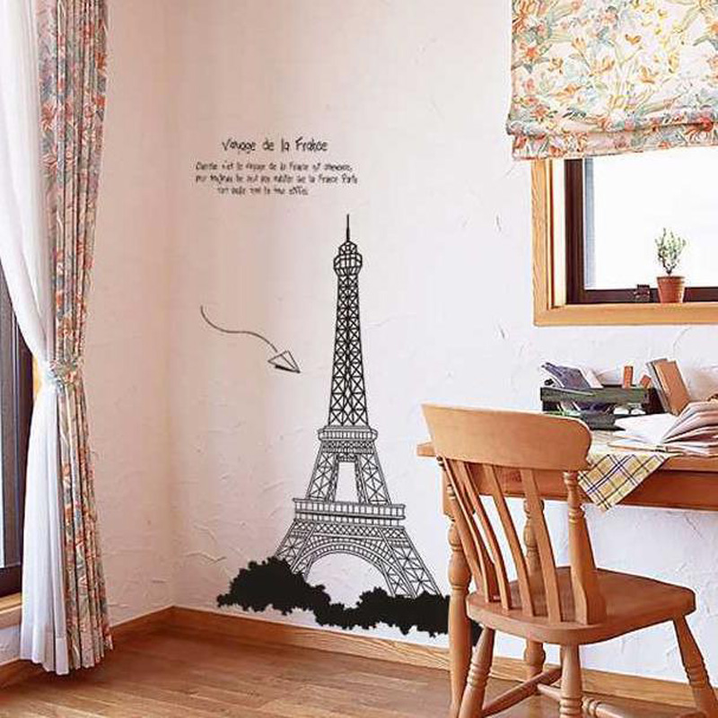 Aliexpress.com : Buy Voyage De La France Paris Eiffel Tower Wall Stickers  Mural Adesivo De Parede Window Wall Decorations From Reliable Wall Decor  Suppliers ... Part 73
