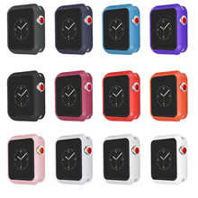 Silicone Watch Case for Apple Watch 42mm 38mm Full Protector Case for Iwatch Series 3/2/1 Rubber Case for Apple Watch Band