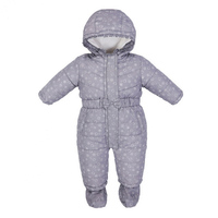 2017 Brand Baby Snowsuits Cotton Hooded Jumpsuit Boys Girls Winter Overalls Kids Print Clothes Newborn Thicken