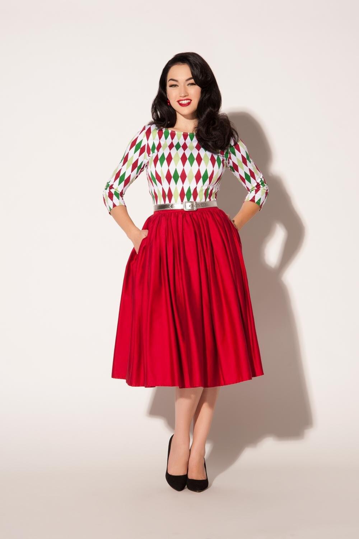 40- women vintage 50s jenny skirt in red high waist rockabilly pinup swing  skirts plus size saias femininas female faldas 1829f5f68b95