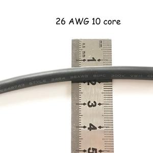Image 3 - 50 メートル 26AWG 2 コア 3 コア 4 コア 5 コア 6 コア 7 コア 8 コアコンピュータワイヤー UL2464 チャンネルオーディオライン信号ケーブル電気 LED ケーブル