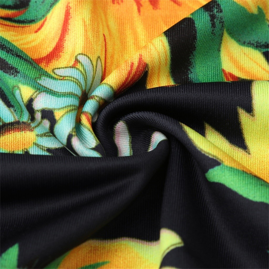 HTB1O hhVVzqK1RjSZFoq6zfcXXaU Sexy Womens Sunflower Summer Bodycon Dress Sleeveless Printed Holiday Party Short Mini Dresses Ruffle Summer Dress 2019 Vestido