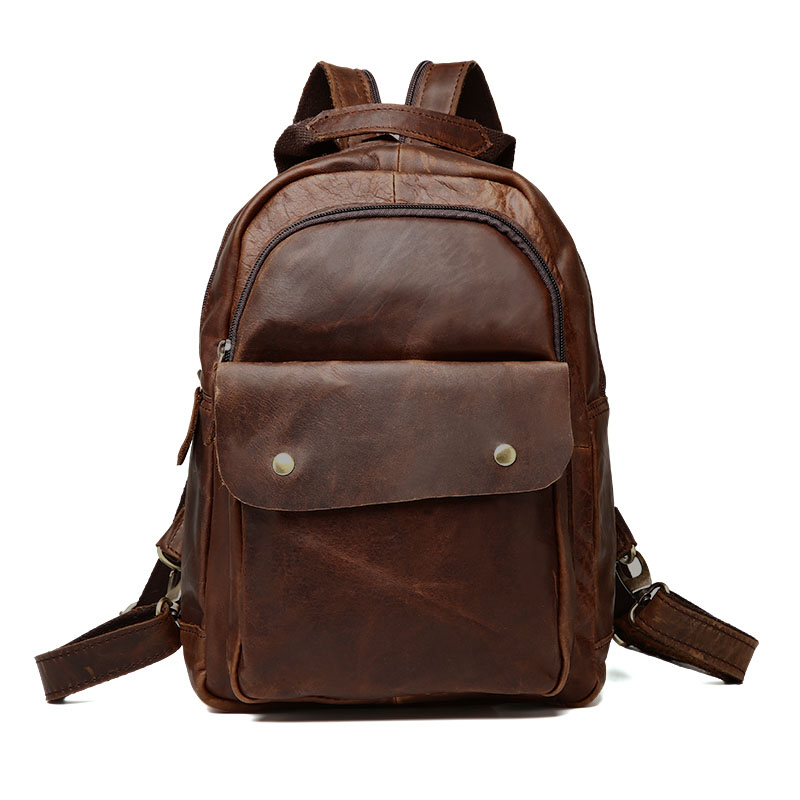 New Fashion genuine leather backpack high quality vintage women travel shoulder crossbody bags mochila bag