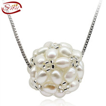 SNH natural freshwater pearl pendant necklace real genuine cultured pearl pendant snh aa beautiful new real genuine cultured 11 13mm edison round natural freshwater pearl necklace jewelry design free shipping
