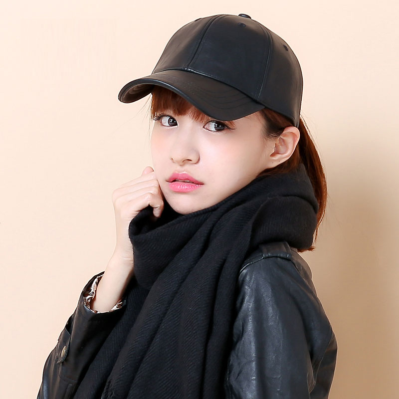 AUBREYRENY New Fashion Quality fall winter female leather Cap Casual Moto  Snapback Hat Women s baseball Cap Wholesale Pink Hats-in Baseball Caps from  ... 06f1a0cbe56