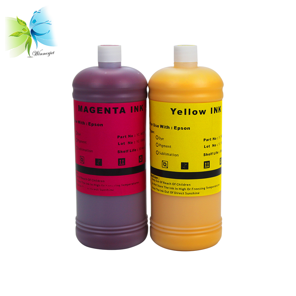 Winnerjet 4 Colors 1000ml Sublimation Ink for EPSON Printers Premium Ink BK C M Y for EPSON All Printer CISS Ink in Ink Refill Kits from Computer Office