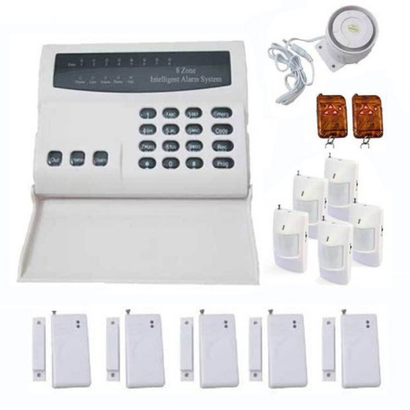 Wireless Security Alarm System DIY Kit with PTSN Auto Dial calling Motion Detectors for Home Business