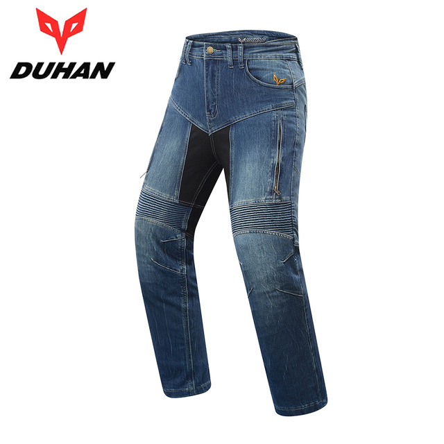 DUHAN Motorbike Jacket Set Men Motorcycle Jeans Motocross Pants Riding Pantalon Moto Knee Protective Gear Biker Motorcycle Pants amu motorcycle jeans camouflage denim biker motorbike racing pants motocross moto pants protective gear with protector