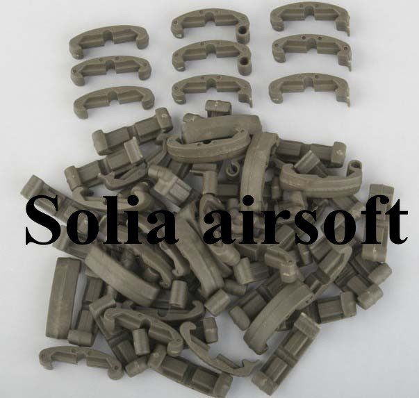 Tactical Handguard Index Clips 60pcs Polymer Covers For Hunting Olive Drab