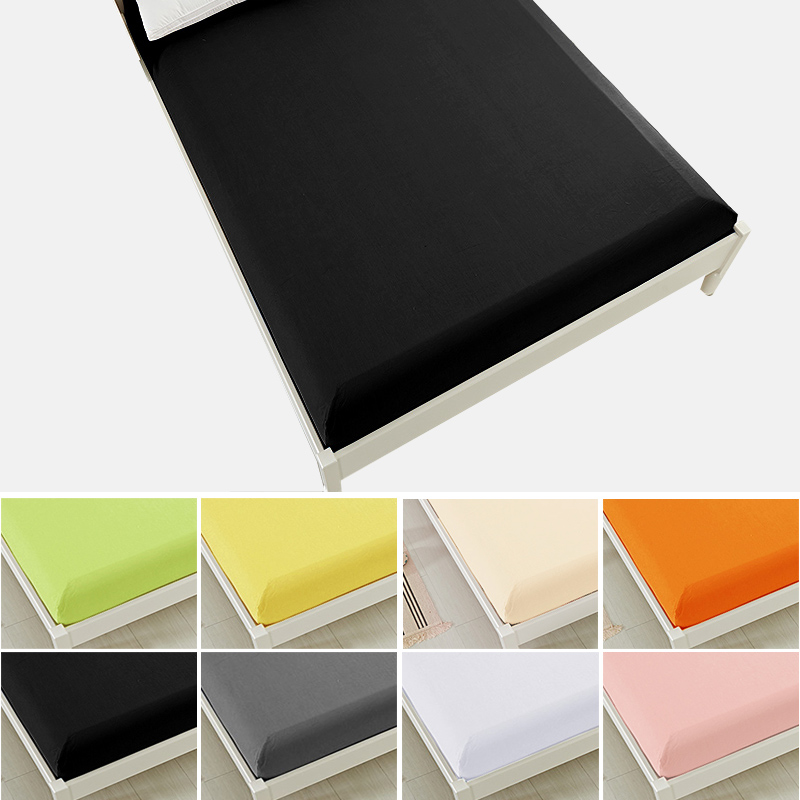 Fitted Sheet Deep 12-15in <font><b>bed</b></font> sheet bedsheet mattress cover protective case twin full queen king size bedding Black White Pink