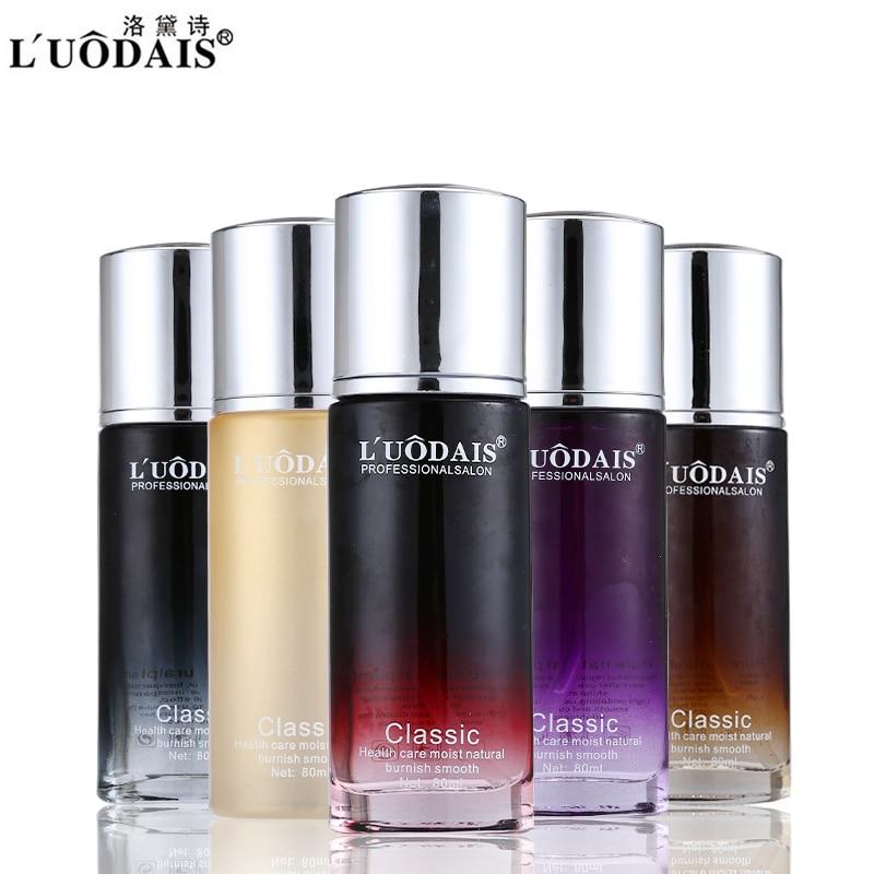 80ml LUODAIS Conjuntos para el cuidado del cabello Aceite de perfume Aceite de argán Hidratante Para Cabelo para la reparación del cabello dañado dañado Hazlo suave y brillante