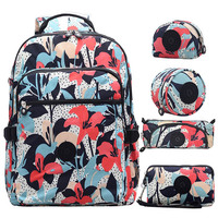 5 шт./компл. мода универсальный для женщин школьный нейлоновый рюкзак Mochila Escolar дорожная сумка рюкзак треккинг большой ёмкость