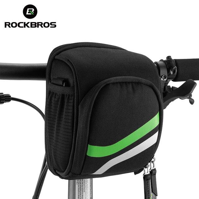 Rockbros Bicycle Bag Bike Handlebar Bag With Rain Cover Cycling Tube