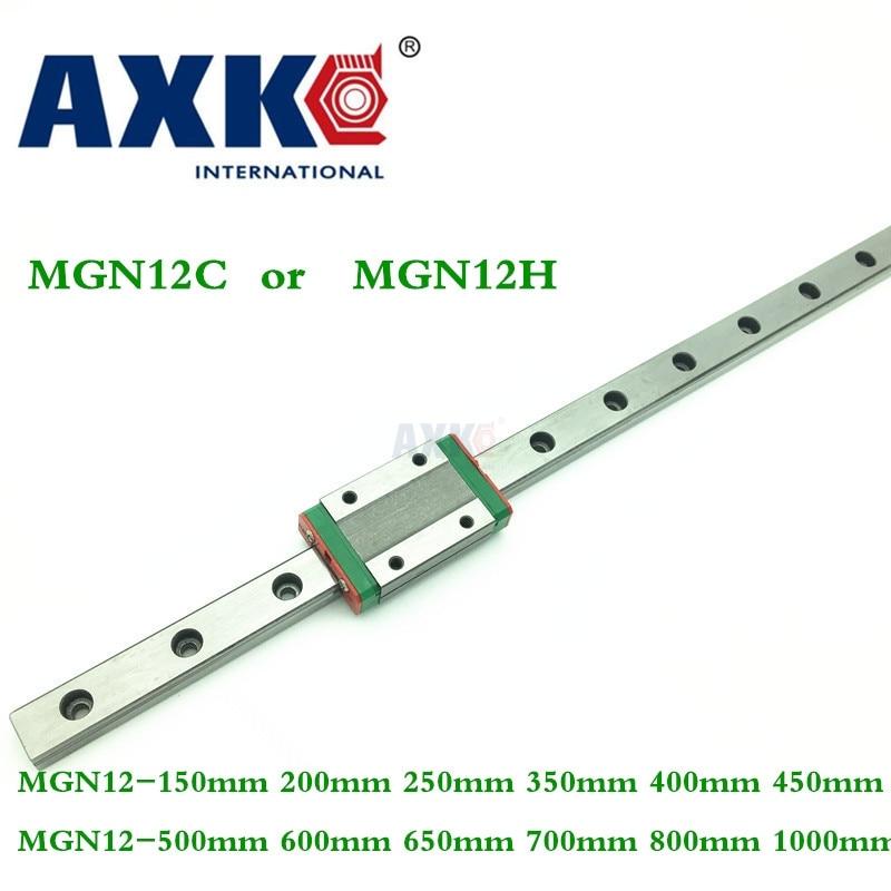 лучшая цена Linear Rail 12mm Linear Guide Mgn12 150mm 200mm 250mm 350mm 400mm 450mm 500mm 600mm 650mm 700mm 800mm 1000mm With Mgn12h Long