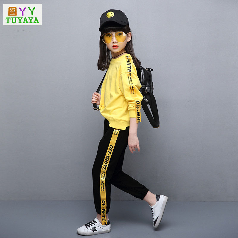 Tracksuit Girls Sports Suits Fashion Toddler Girl Clothing Sets 2018 Spring Autumn Sequin Outfit Clothes Set for Girls 2014 spring autumn new fashion girls sports suits zipper coat trousers flowers print big girl clothes sets children sportswear