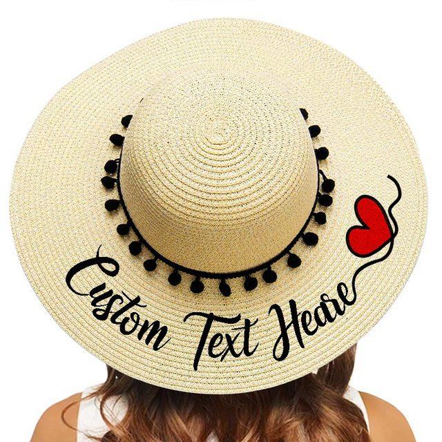 Chapeau de soleil à Large bord pour femme