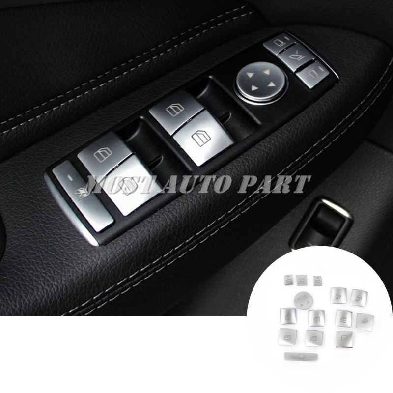 Inner Door Window Switch Button Cover For Benz GLE GLS W166 X166 C292 2015 2018