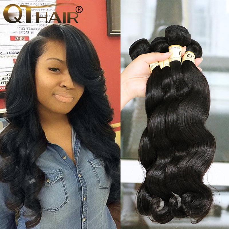 4 Bundles 8A Brazilian Virgin Hair Body Wave Queen Hair Products Brazilian Body Wave Virgin Hair 100 Soft Human Hair Weave queen