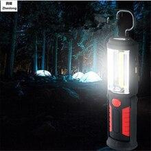 купить USB Rechargeable COB LED Flashlight 5W 350 Lumens Torch Work Hand Lamp lantern Magnetic Waterproof Emergency LED Light дешево