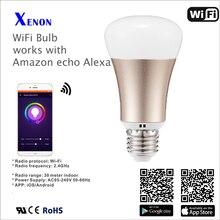 Работает с Amazon Alexa эхо Смарт Лампы Беспроводной wi-fi LED RGB Лампа Лампы Цвет Меняется с помощью Wi-Fi App Управления