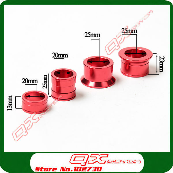 CNC Billet Aluminum Front with Rear Wheel Hub Spacers wheel busher Fit CR 125 250R CRF