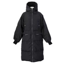 Woman Ukraine Winter Warm Cloak Windcheater Hooded Cheap Long Black Jacket Thick Coat Large Parka Windbreaker Korean Overcoat