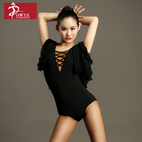 2017 Latin Dance Dress Tango Dress New Cotton Ballroom Elim For High grade Adult Latin Dance Leotard Gb032 Modern Clothing Coat