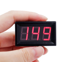 100pcs by dhl fedex red LED Digital Voltage meter DC25-500V 0.56 inch Voltmeter Display with 3 Wires 35%off(China)