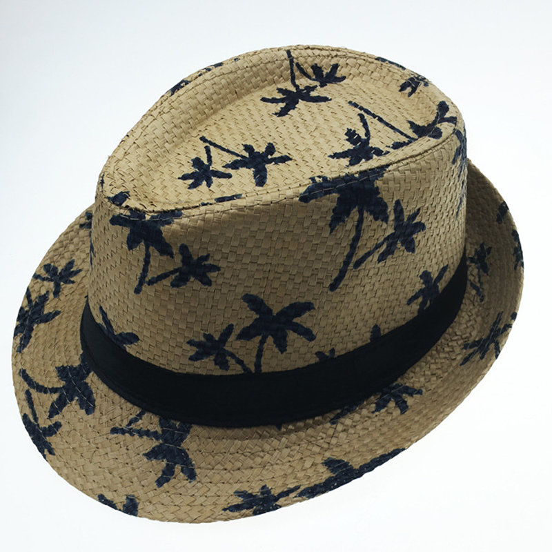 395d21615a1 Summer Paper Straw Jazz Fedora Hats for Men Women Children Fashion ...