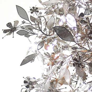 Modern Art Stainless Steel Phantom Droplight DIY Led Pendant Lights Lamp Fixtures for Cafe Bar Store Bedroom Dining Room