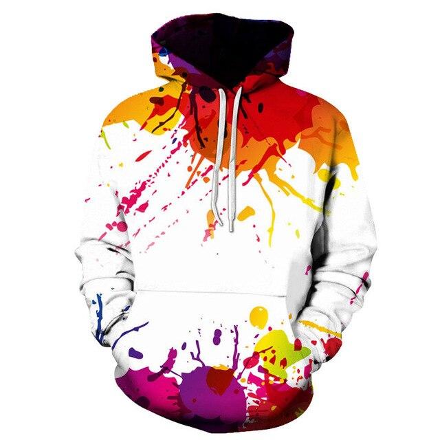36549e4540f3 Onseme white colour Art Graffiti Leisure men women 3d hoodies fashion Harajuku  3D printing hip hop style Sweatshirts CHO-101