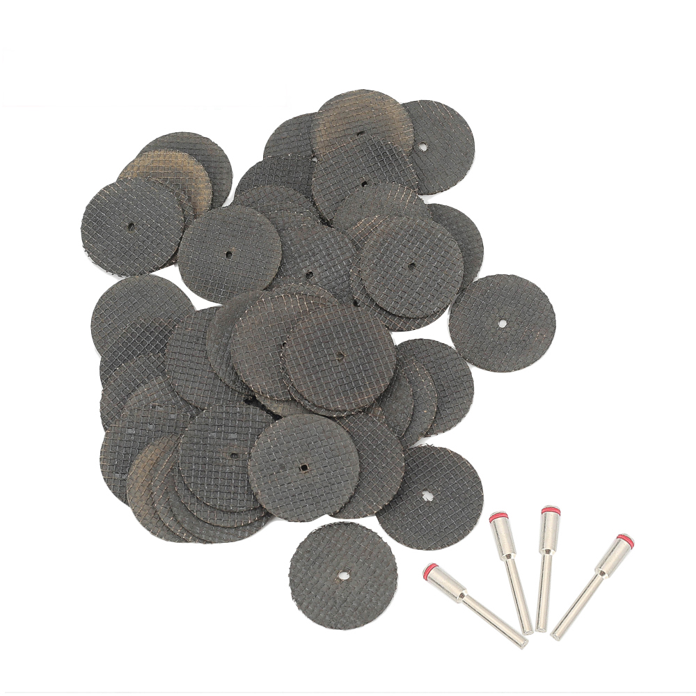Abrasive Tools 50PC Fiberglass Reinforced Cutting Disc Cut Off Wheel With 4 Mandrels Mini Drill Rotary Tool Accessories