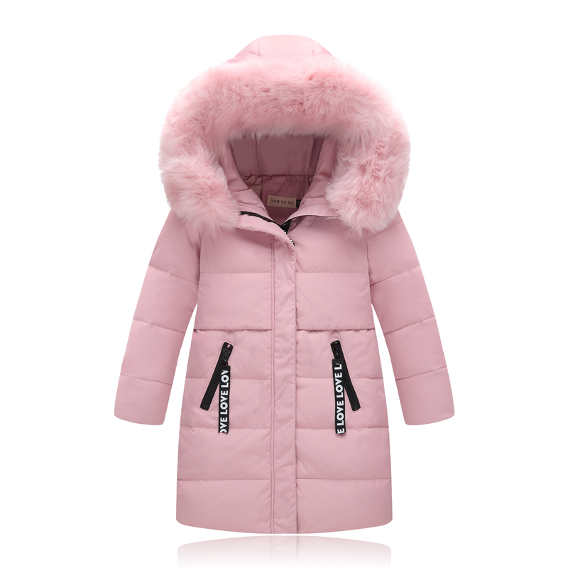 XYF8836 Boys Girls Winter Down Jackets Kids Fur Collar Thicken Winter Jacket Coat Warm Outerwear Long Coat 85% White Duck Down kindstraum 2017 super warm winter boys down coat hooded fur collar kids brand casual jacket duck down children outwear mc855