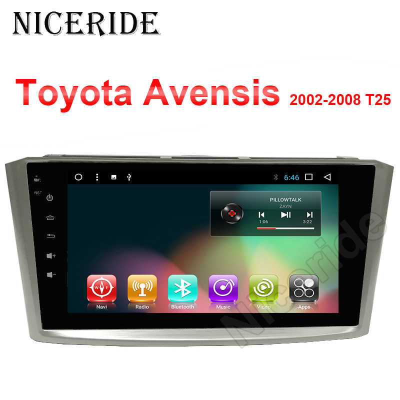 "8 ""Scherm Android 8.1 Car Dvd-speler Voor Toyota Avensis 2002-2008 T25 Auto Gps Navigatie Stereo Multimedia auto Radio Head Unit"
