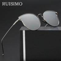 2017 Fashion Arrow Vintage Round Sunglasses Women Brand Designer Cat Eye Sun Glasses for Women Oculos De Sol Feminino Gafas