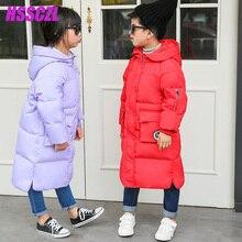 HSSCZL зимняя одежда 2016 девушки пуховик мальчики длинные детская одежда утолщение большой куртки мужской верхняя одежда парки