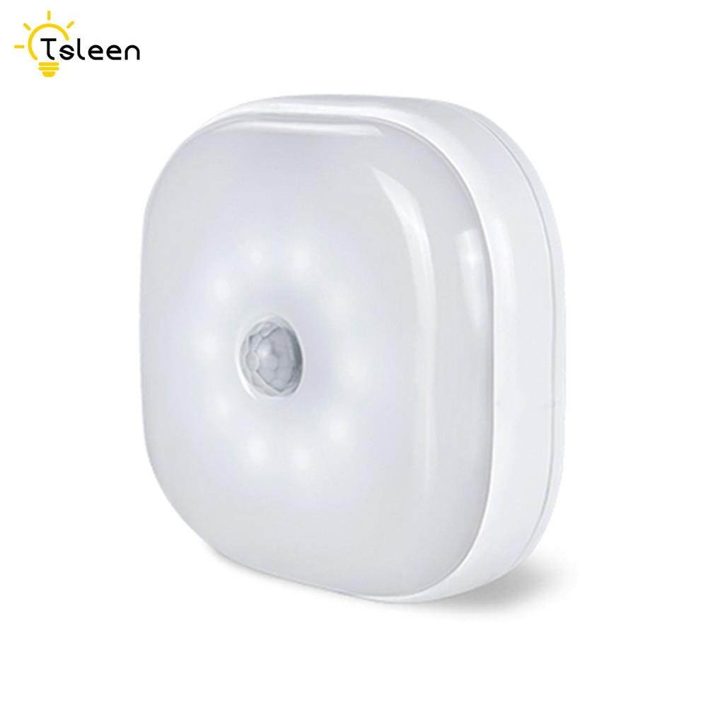 10 LED Infrared PIR Motion Sensor 10 Led Night Light Wireless Detector Light Wall Lamp Light Auto On/Off Closet Battery Power