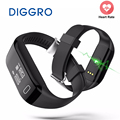 Diggro H3 Smart Band Heart Rate Monitor Bluetooth Wristband Fitness Tracker Health Pedometer Bracelet For iPhone IOS Android