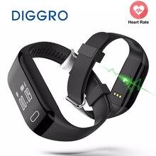 Diggro H3 Smart Band монитор сердечного ритма Bluetooth Браслет фитнес-трекер здоровья Шагомер Браслет для iPhone IOS Android