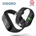 Diggro h3 banda monitor de freqüência cardíaca do bluetooth inteligente pulseira pedômetro rastreador de fitness saúde pulseira para iphone ios android