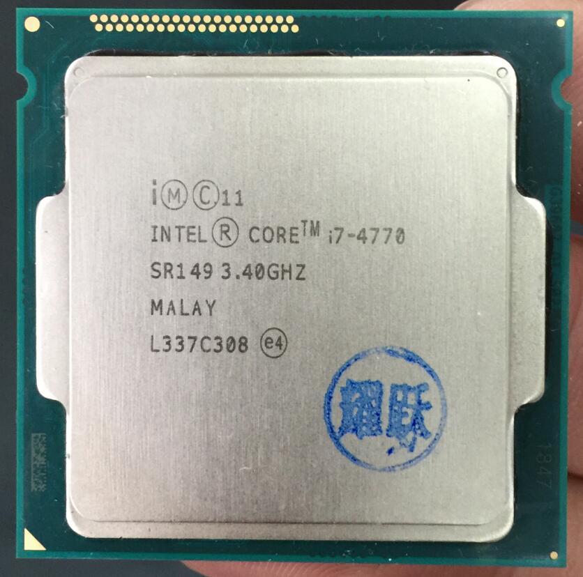 Компьютер процессор Intel Core I7 4770 I7-4770 Процессор LGA 1150 Quad-Core Процессор 100% работает должным образом настольный процессор