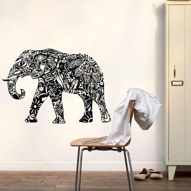 Indian Elephant Wall Stickers Mandala Modello Animals Stickers ...