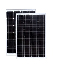 Solar Module 12v 60w 2 Pcs Panels Motorhomes 24v 120w  Battrie Solaire Chargeur Camping Fan Light LED Lamp