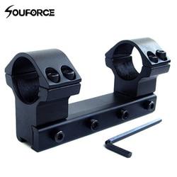 25.4mm/1 High Profile Âmbito Mount 11mm Tecelão Rail 100mm Longo Para Rifle Dupla âmbito Anel Mounts