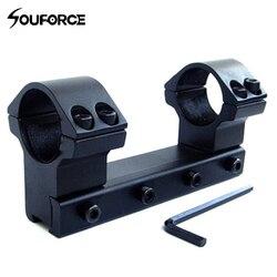 25.4mm/1 de alto perfil escopo montar 11mm tecelão ferroviário 100mm de comprimento para rifle escopo duplo anel âmbito monta