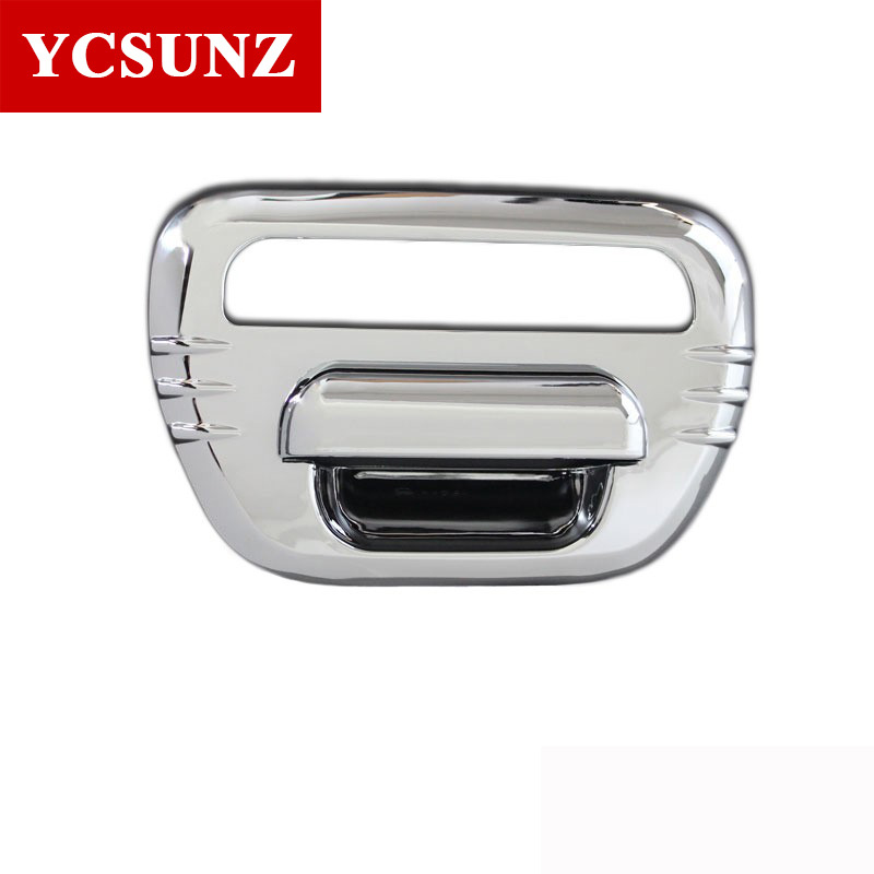 Chrome Tail Gate Cover For Mitsubishi L200 Triton 2006-2014 Accessories Plate Rear Gate Cover For Mitsubishi L200 Triton Ycsunz