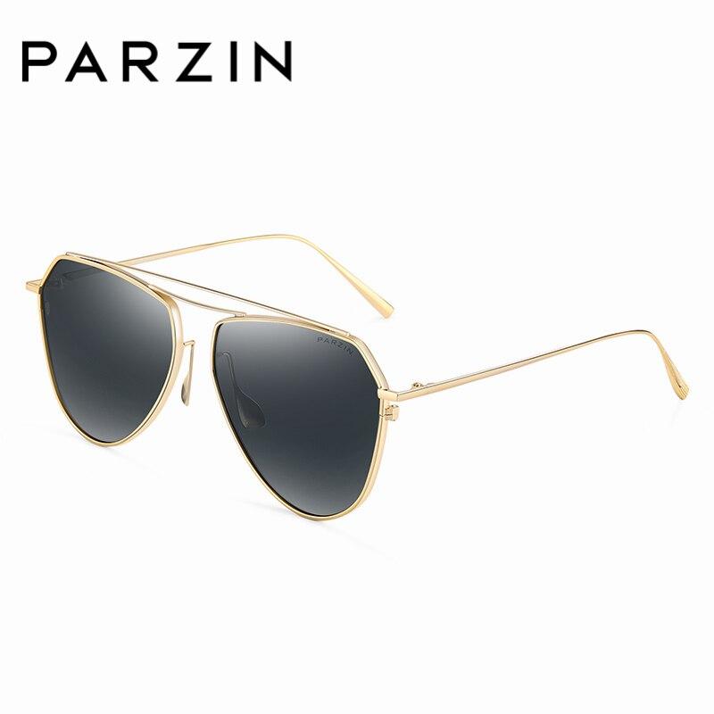 PARZIN Marke Vintage Pilot Sonnenbrille Qualität Luxus Legierung Rahmen Gläser Polarisierte Sonnenbrille Für Fahrer Sommer Zubehör 9735