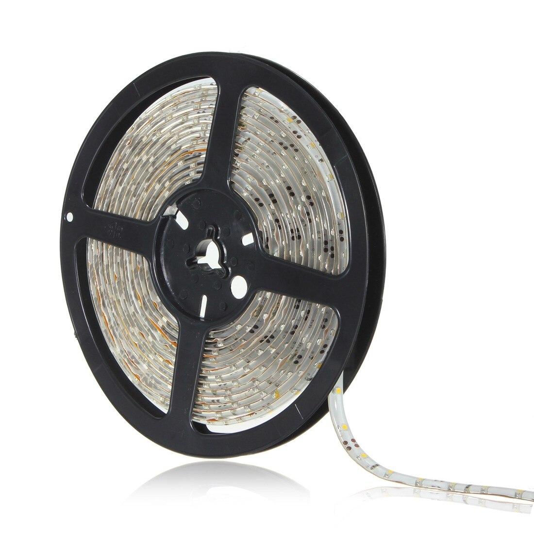 Smuxi 5M DC12V Waterproof LED Strip 3528 SMD 60Led/m Flexible Led Light Strip Lamp Warm white Tape Ribbon