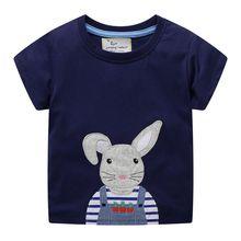 2019 Fashion New Cartoon Kids T Shirt Children Bunny T-shirt Boys Girls Unisex Rabbit Tees Tops Baby Summer Clothes camisetas